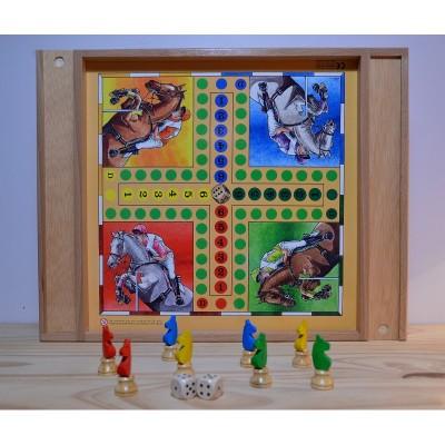 jeu de dadas et jeu de l'oie en bois