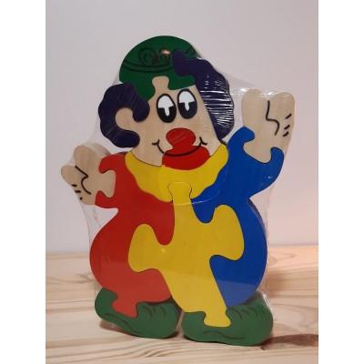 Puzzle en bois clown