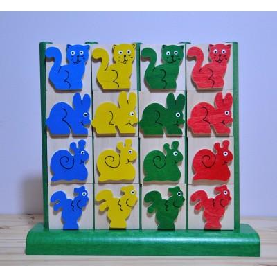 jeu de cubes vertical