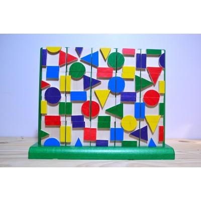 Jeu de cubes géométrique vertical